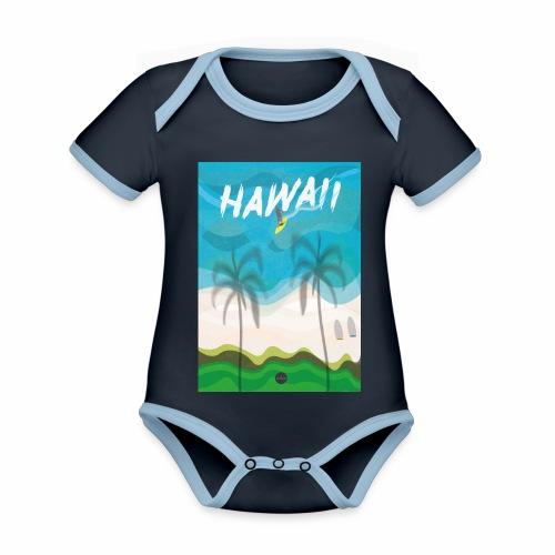 Hawaii - Organic Baby Contrasting Bodysuit