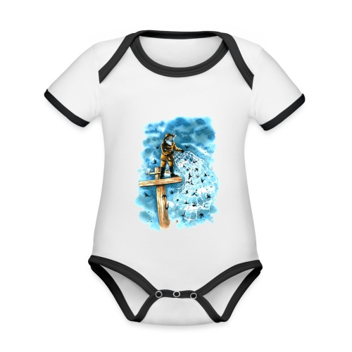 after the storm - Organic Baby Contrasting Bodysuit