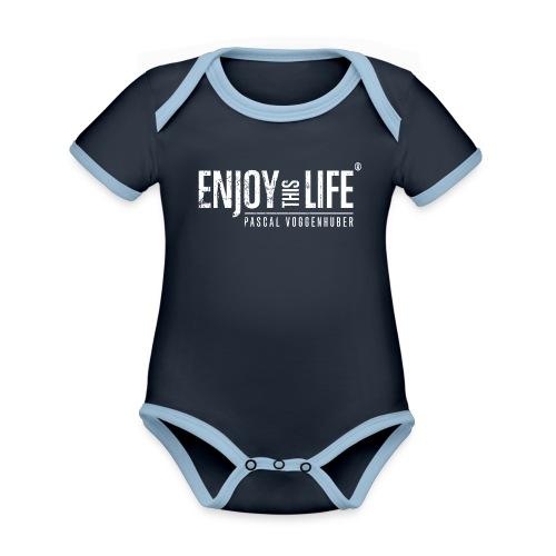 Enjoy this Life® Classic weiss Pascal Voggenhuber - Baby Bio-Kurzarm-Kontrastbody