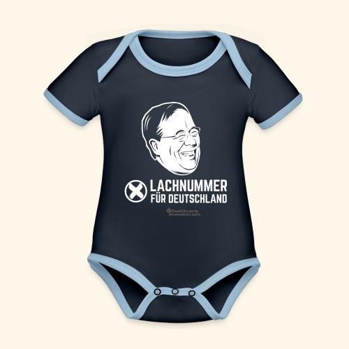 Lachnummer für Deutschland - Baby Bio-Kurzarm-Kontrastbody