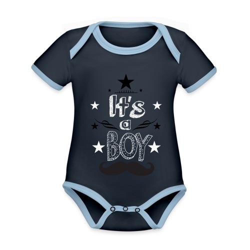 Tshirt Femme Enceinte grossesse tee shirt - Body Bébé bio contrasté manches courtes
