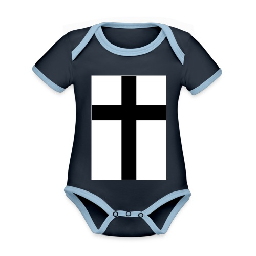 Cross - Ekologisk kontrastfärgad kortärmad babybody