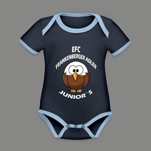 Junior`s Weiß - Baby Bio-Kurzarm-Kontrastbody