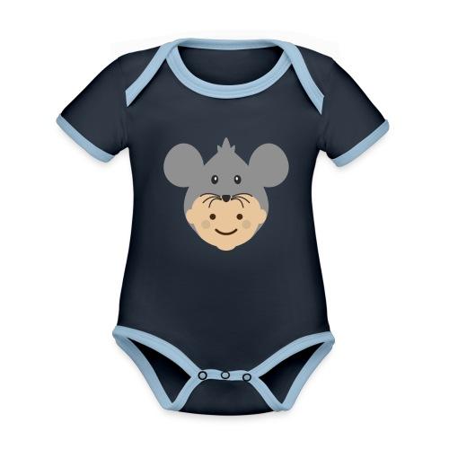 Mr Mousey | Ibbleobble - Organic Baby Contrasting Bodysuit