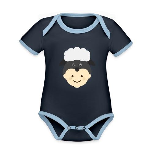 Nancy the Sheep | Ibbleobble - Organic Baby Contrasting Bodysuit