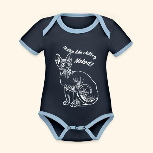 sushinakedb - Body da neonato a manica corta, ecologico e in contrasto cromatico