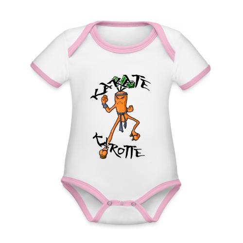 KarateKarotteTexte - Body Bébé bio contrasté manches courtes