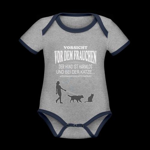 Vorsicht vor dem FRAUCHEN - Baby Bio-Kurzarm-Kontrastbody