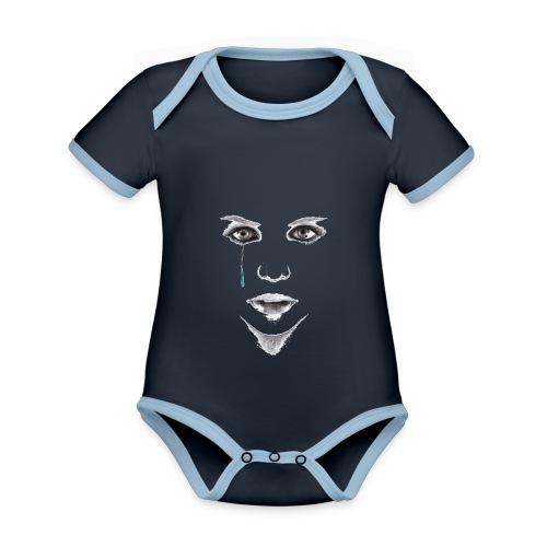 Blue tear - Body Bébé bio contrasté manches courtes