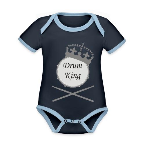 drumking - Baby Bio-Kurzarm-Kontrastbody