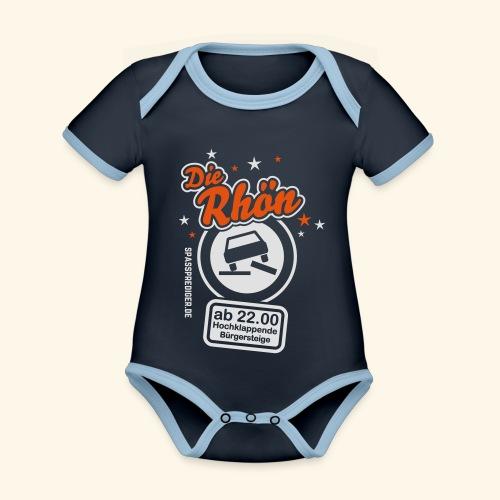 Sprüche T Shirt Die Rhön - Baby Bio-Kurzarm-Kontrastbody