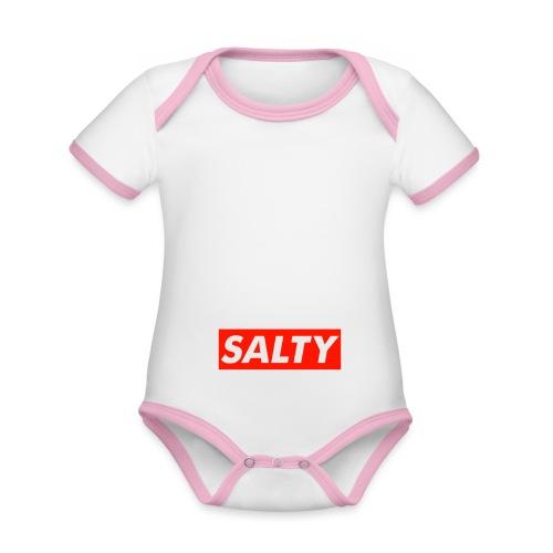 Salty white - Organic Baby Contrasting Bodysuit
