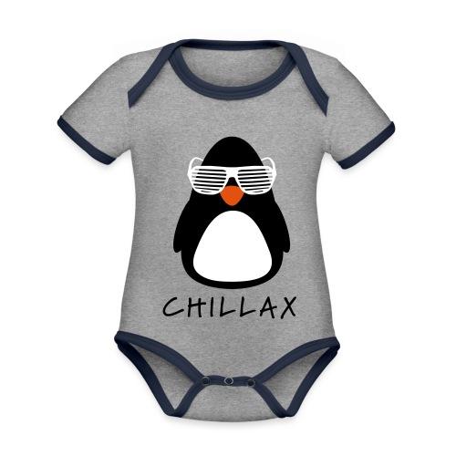 Chillax - Baby contrasterend bio-rompertje met korte mouwen