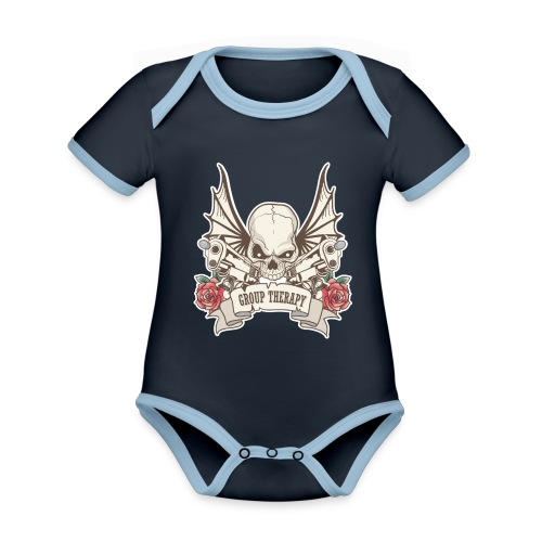 Group Therapy T-Shirt - Organic Baby Contrasting Bodysuit