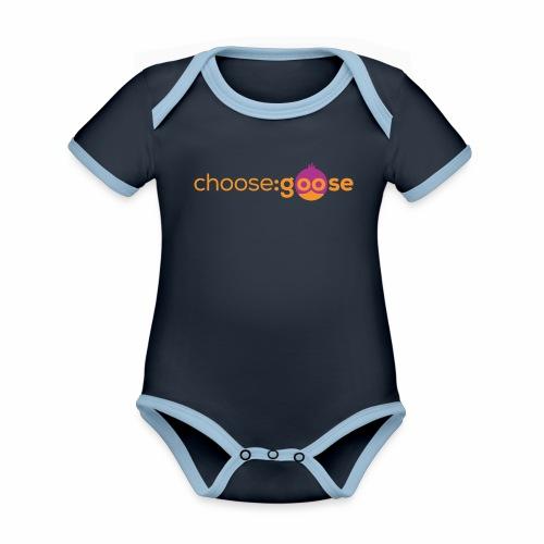 choosegoose #01 - Baby Bio-Kurzarm-Kontrastbody