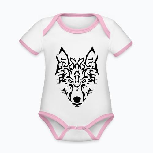 Tribal Wolf - Body Bébé bio contrasté manches courtes