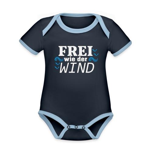 Frei Wie Der Wind - stehe zu Deiner Freiheit - Baby Bio-Kurzarm-Kontrastbody