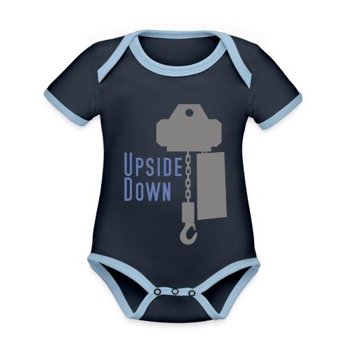 upside down - Baby Bio-Kurzarm-Kontrastbody