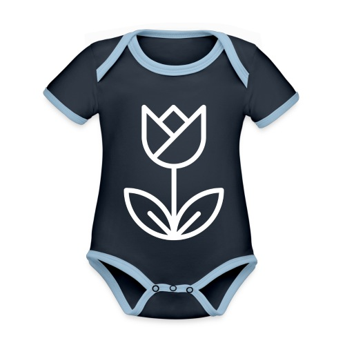 Tulip white png - Organic Baby Contrasting Bodysuit