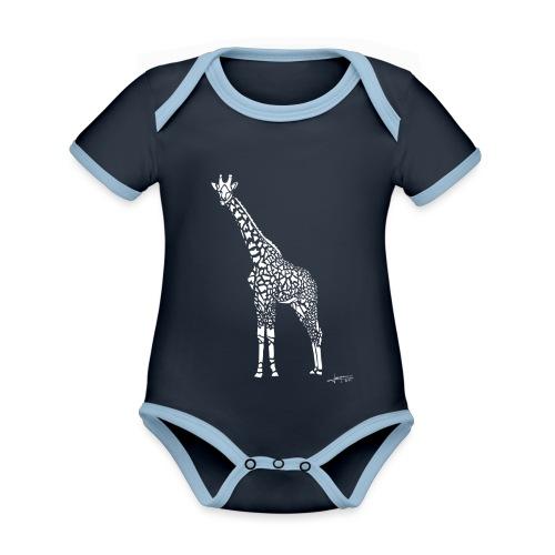 White Girafe by Joaquín - Body Bébé bio contrasté manches courtes