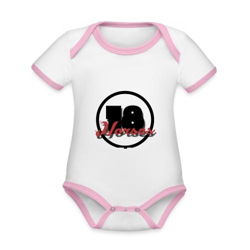 18 Horses - NKPG (White) - Ekologisk kontrastfärgad kortärmad babybody