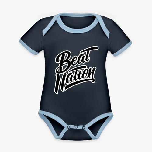 Logo Officiel Beat Nation Noir - Baby Bio-Kurzarm-Kontrastbody