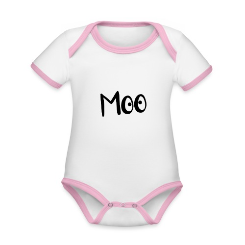 bubble moo black design - Organic Baby Contrasting Bodysuit