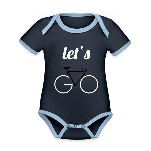 Let's GO - Baby Bio-Kurzarm-Kontrastbody