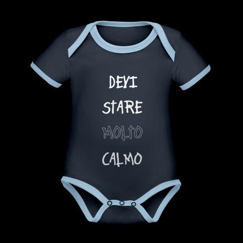 Devi stare molto calmo - Organic Baby Contrasting Bodysuit