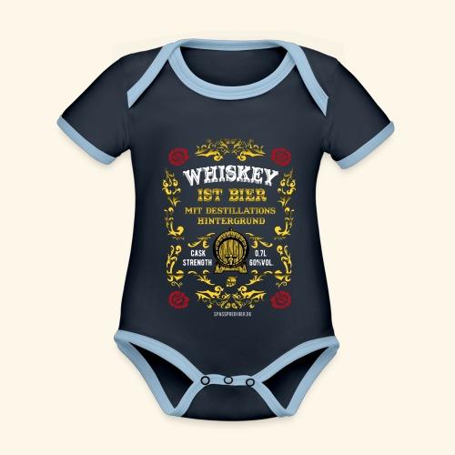 Whiskey ist Bier - Baby Bio-Kurzarm-Kontrastbody