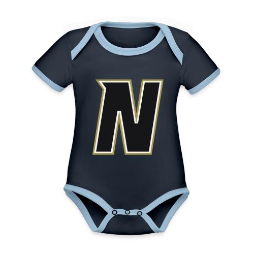 Nordic Steel Black N - Organic Baby Contrasting Bodysuit