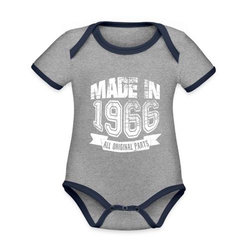 Made in 1966 - Body contraste para bebé de tejido orgánico