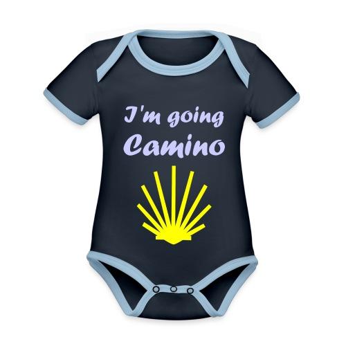 Going Camino - Kortærmet økologisk babybody i kontrastfarver
