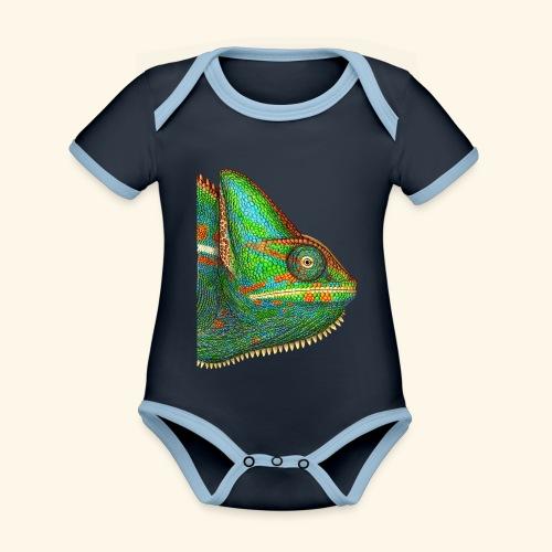 Chamäleon - Baby Bio-Kurzarm-Kontrastbody
