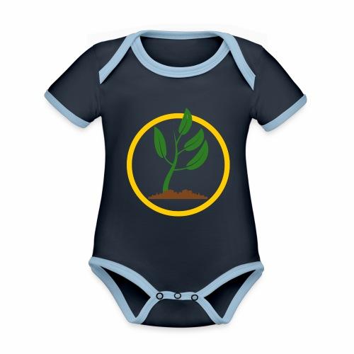 Setzlingemblem - Baby Bio-Kurzarm-Kontrastbody