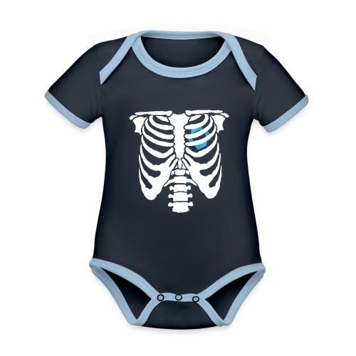 JR Heart - Organic Baby Contrasting Bodysuit