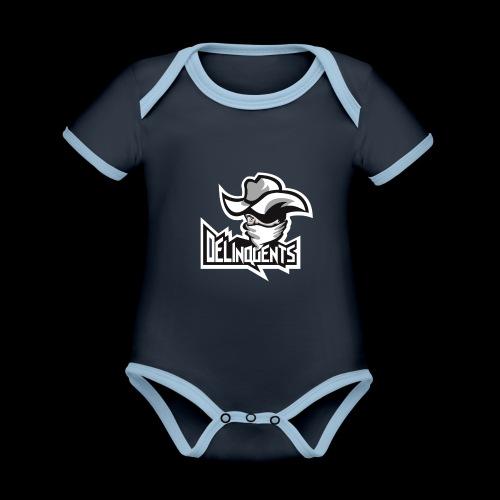 Delinquents Sort Design - Kortærmet økologisk babybody i kontrastfarver