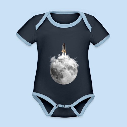 Mondrakete - Baby Bio-Kurzarm-Kontrastbody