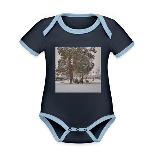 Graveyard In Winter - Organic Baby Contrasting Bodysuit