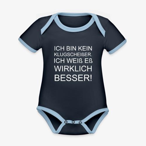 ICH BIN KEIN KLUGSCHEIßER - Baby Bio-Kurzarm-Kontrastbody