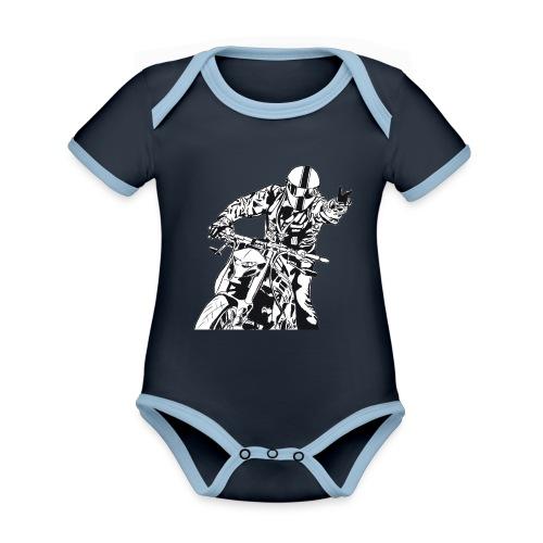 Streetfighter - Baby Bio-Kurzarm-Kontrastbody