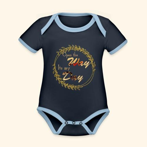 its my day weddingcontest - Organic Baby Contrasting Bodysuit