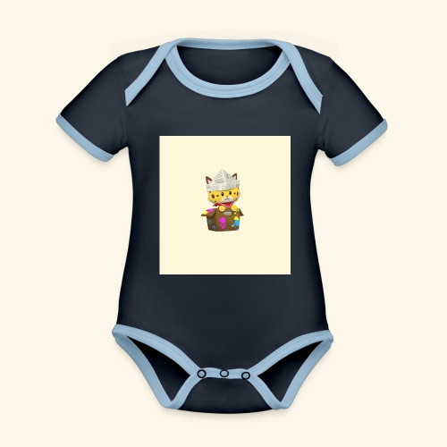 HCP custo 6 - Organic Baby Contrasting Bodysuit