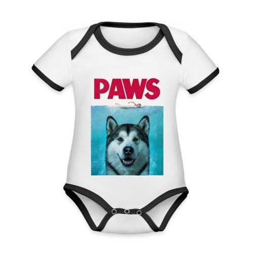 paws 2 - Organic Baby Contrasting Bodysuit