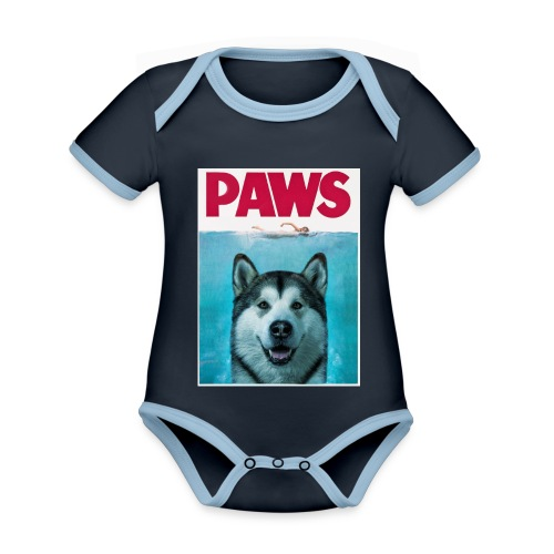 paws 2 - Organic Baby Contrasting Bodysuit
