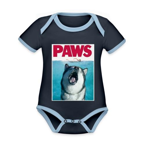paws Alaskan Malamute - Organic Baby Contrasting Bodysuit