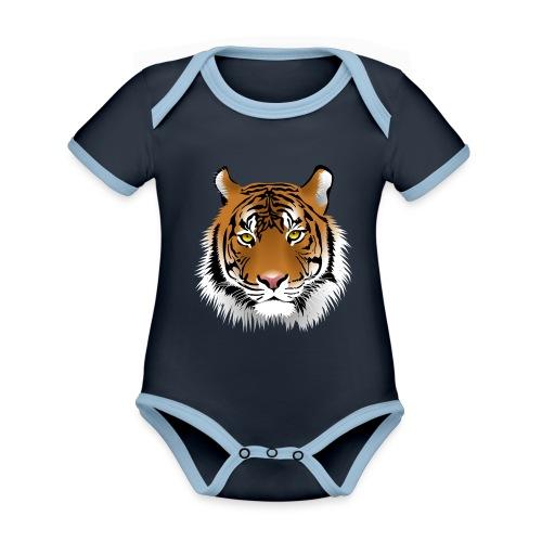 tiger numero 1 - Body contraste para bebé de tejido orgánico