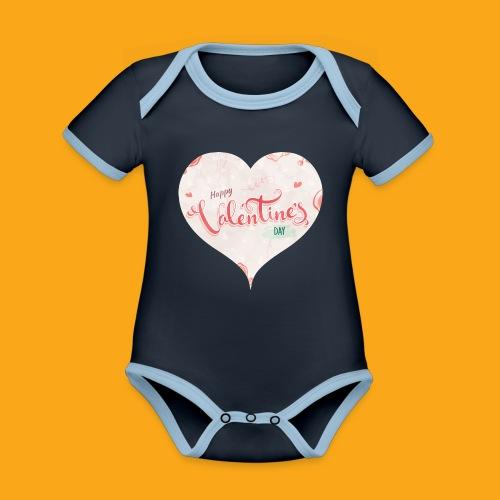 Happy Valentinesday - Baby Bio-Kurzarm-Kontrastbody