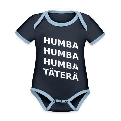 humba humba humba täterä - Baby Bio-Kurzarm-Kontrastbody