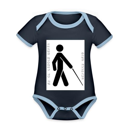 Blind T-Shirt - Organic Baby Contrasting Bodysuit